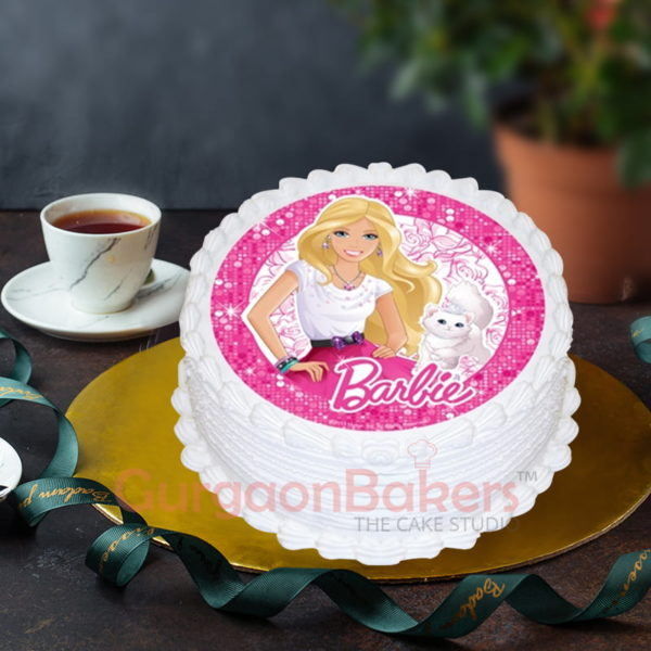barbie kitty cake