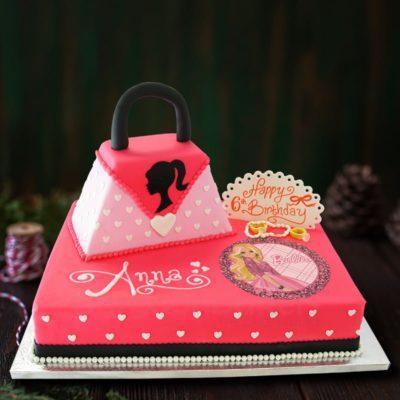 fashionista barbie cake