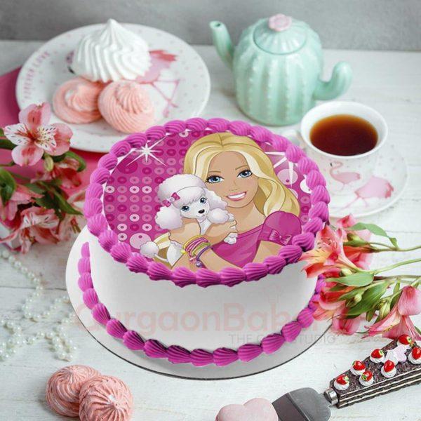 poodle barbie cake