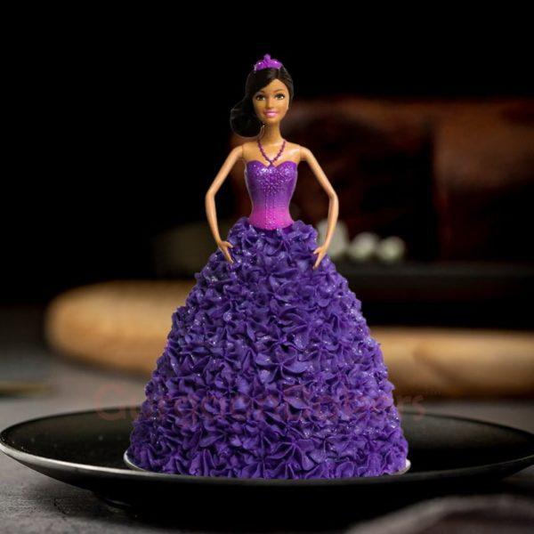 pretty in purple barbie cake