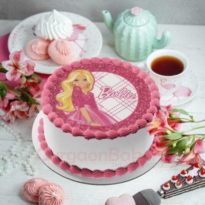 sparkly barbie cake