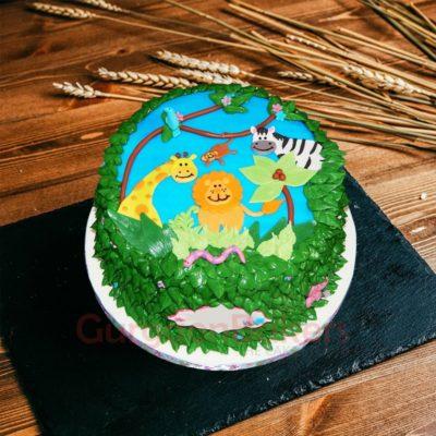 2d jungle cake