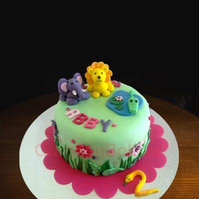 animal cuteness overload cake
