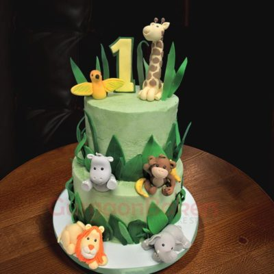 animal layer cake