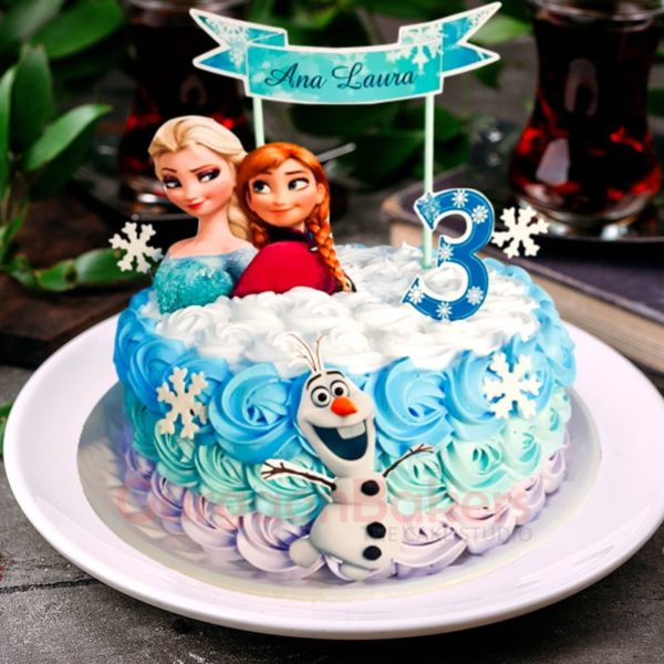 anna and elsa frozen cake