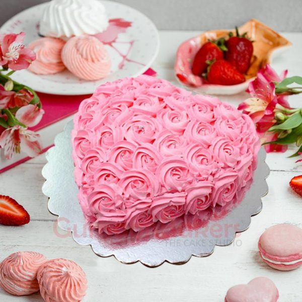 anniversary special pink cake