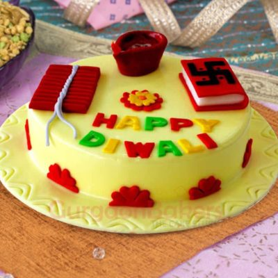 auspicious diwali cake