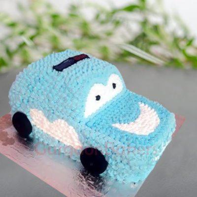 baby blue car cake