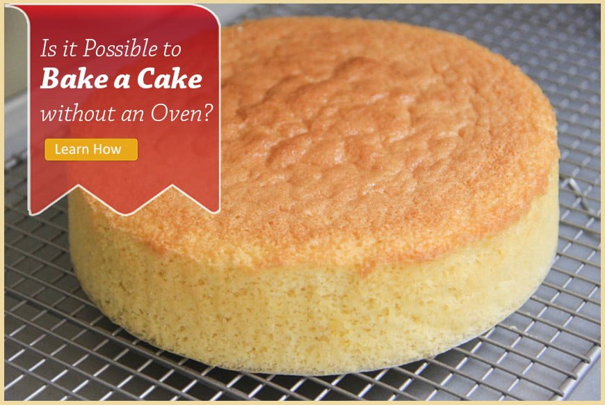 bake a cake without oven