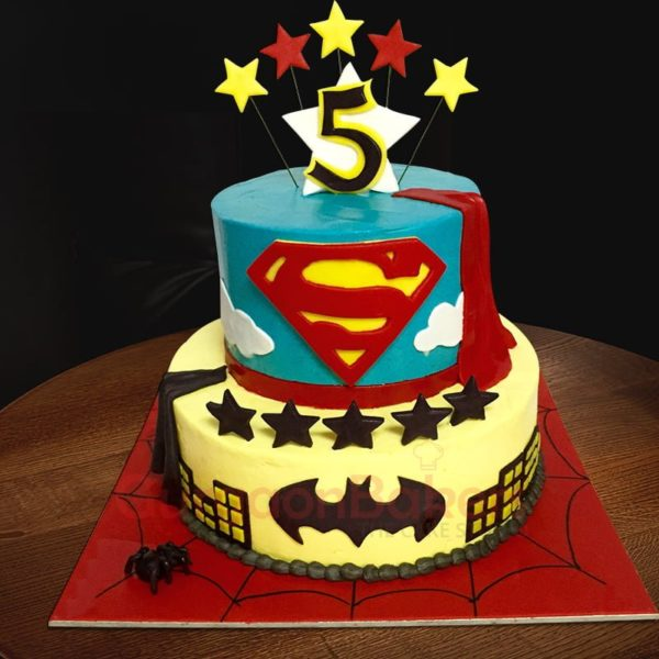 batman vs superman cake