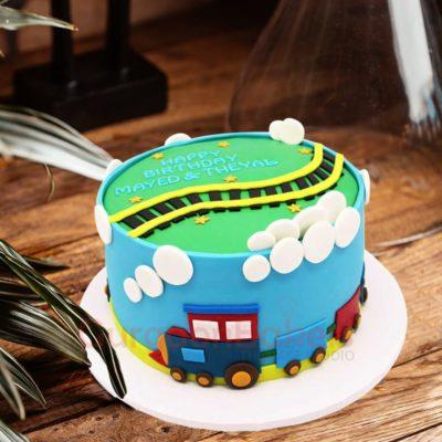 beautiful choo choo train birthday cake