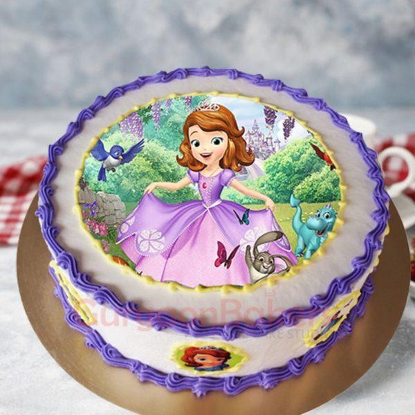 charming princess sofia cake