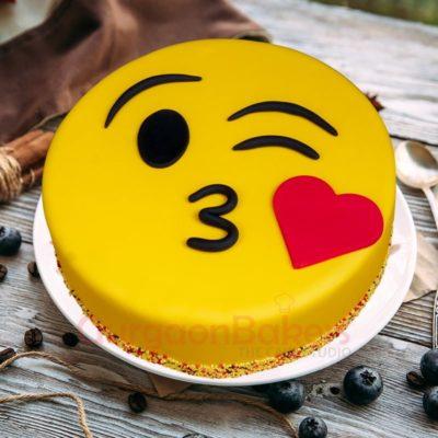 cheery smiley cake