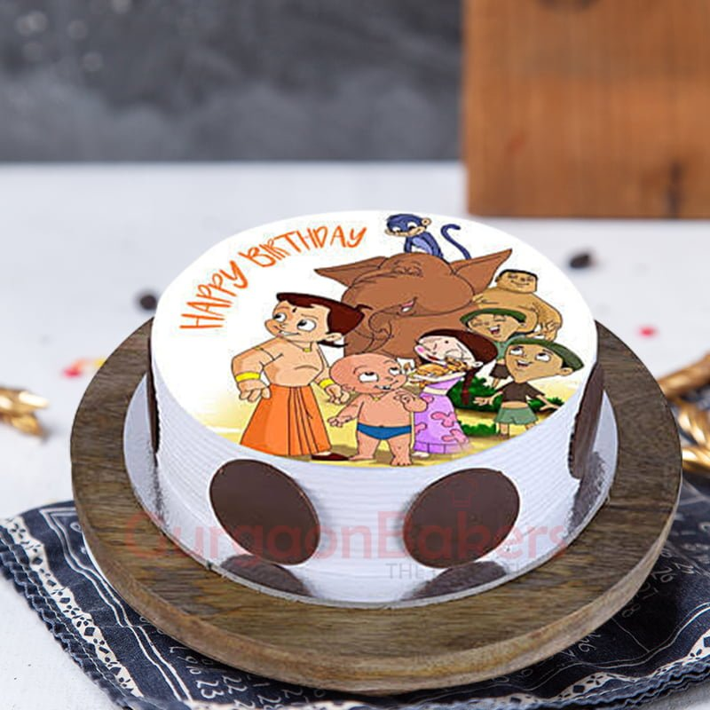 chhota bheem and friends cake