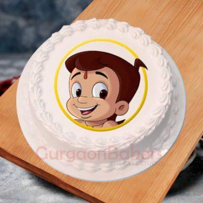 chhota bheem face cake