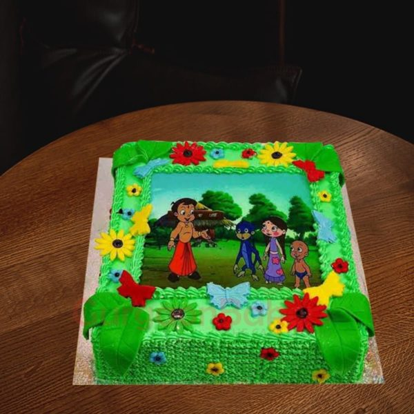 chhota bheem garden cake