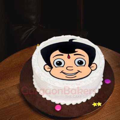chhota bheem photo cake