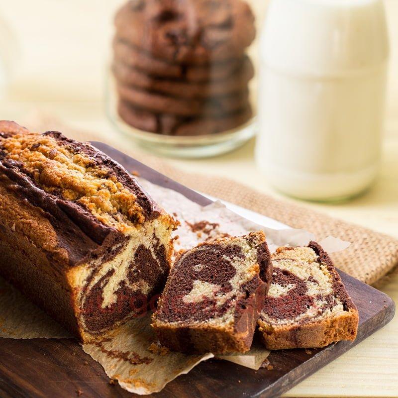 choco marble tea cake