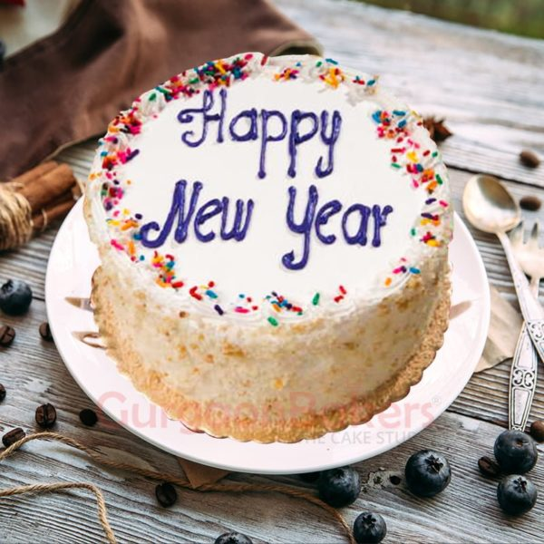 classic vanilla cake for new year party