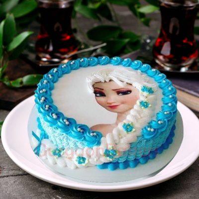 elsa braid cake