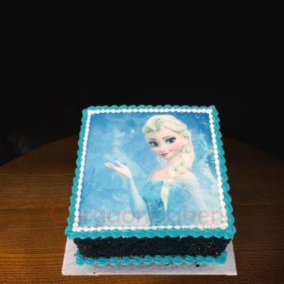 elsa photo cake