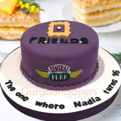 f.r.i.e.n.d.s cake