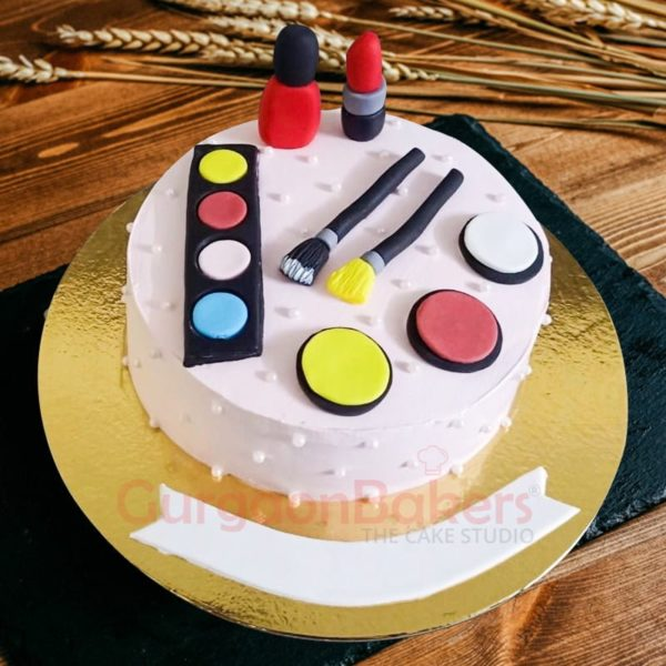 fabulous makeup themed cake