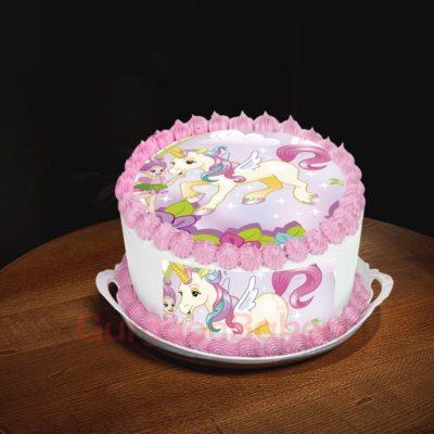 flying unicorn cake