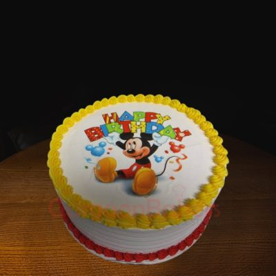 happy birthday mickey cake