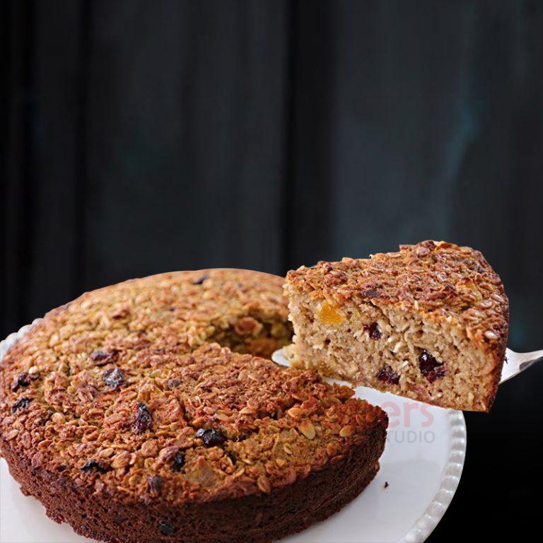 oats and raisins healthy cake