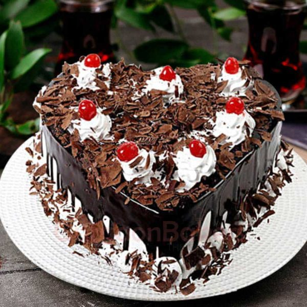 heart choco truffle cake