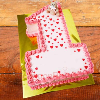 hearts number cake