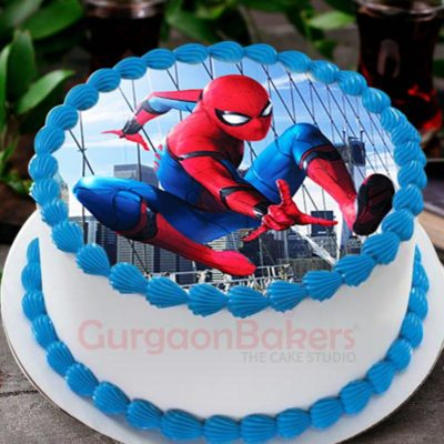 incredible spiderman cake