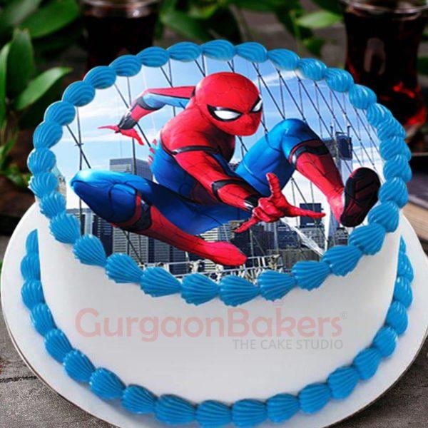 incredible spiderman cake