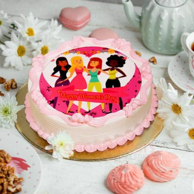 its time to party womens day cake