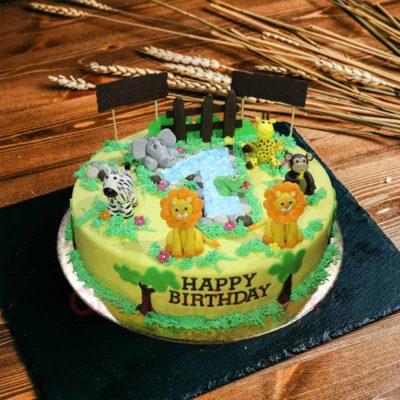 jungle digit cake