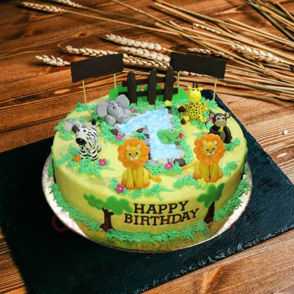 jungle digit cake