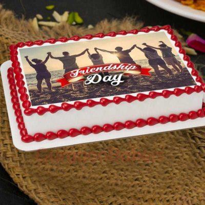 large friendship day cake