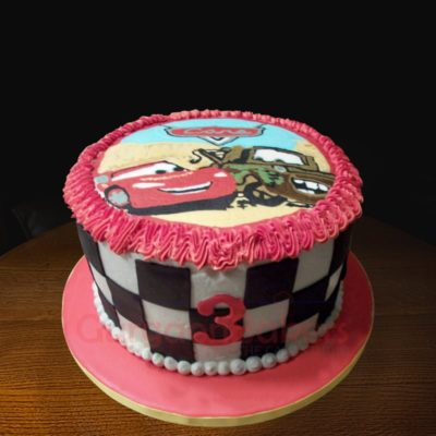 lightning mcqueen and mater cake