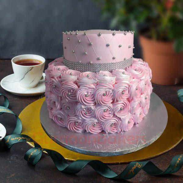 lovely pinky birthday cake