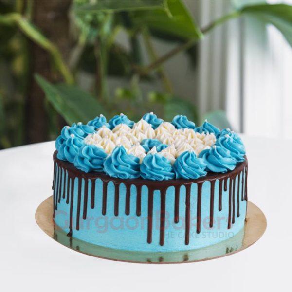 lovey dovey blue cake