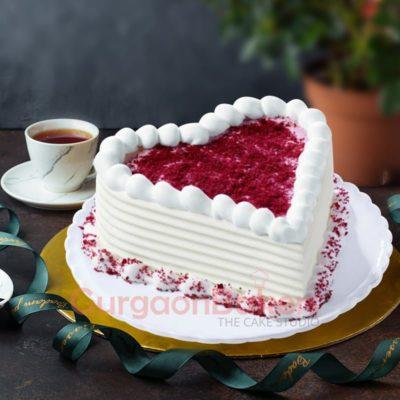 lovey dovey heart cake