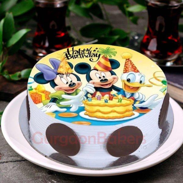 mickey minnie and donald cake