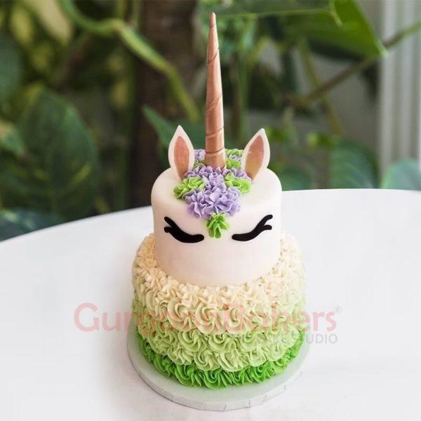 mystical forest unicorn cake