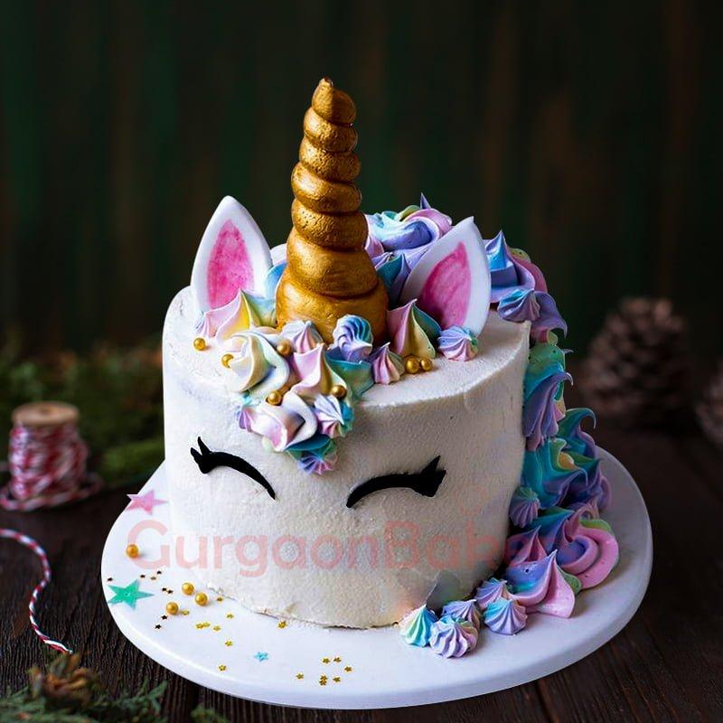 mystical mane unicorn cake