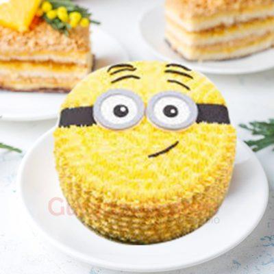 no fondant minion cake
