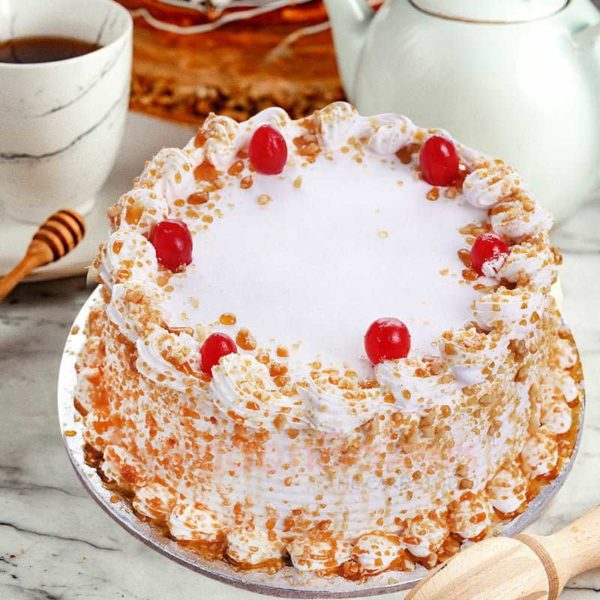 old fashioned bakery style butterscotch cake