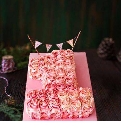 one derlicious rosette cake