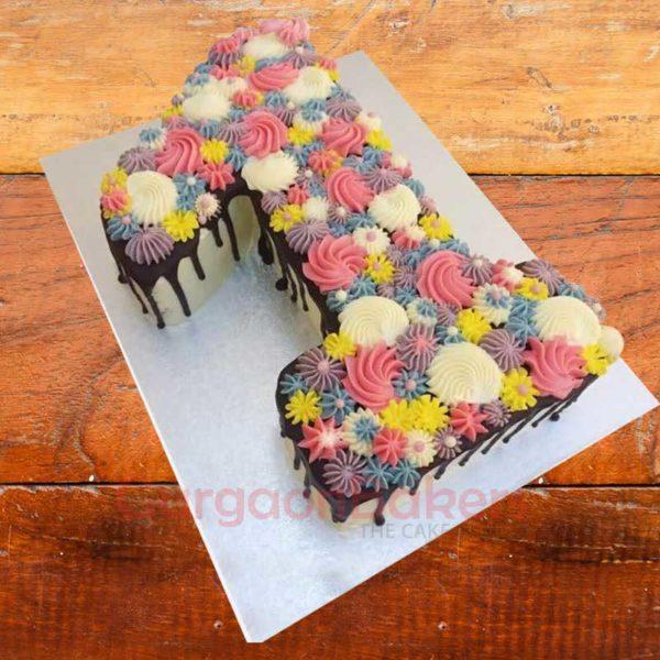 pastel number cake