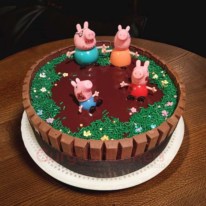 peppa and georgie pig celebration cake